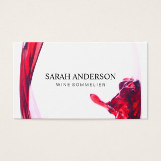 Wine Pour Business Card