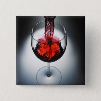 Wine poured in glass button
