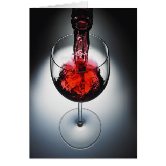 Wine poured in glass card