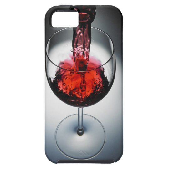 Wine poured in glass iPhone SE/5/5s case