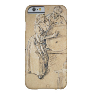 Wine-pourer with a Young Man (chalk) card Barely There iPhone 6 Case