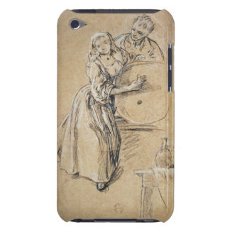 Wine-pourer with a Young Man (chalk) card iPod Touch Case