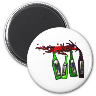 Wine Pouring from Bottles 2 Inch Round Magnet