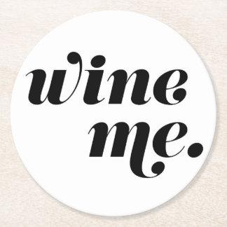 Wine. Prácticos de costa de papel Posavasos Personalizable Redondo