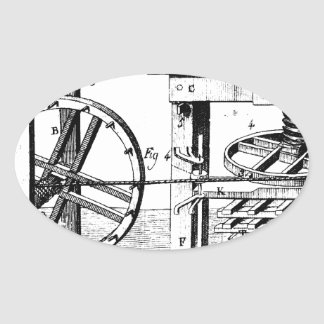 Wine Press Oval Sticker