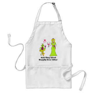 Wine Prince & Princess ...Happily Ever After Adult Apron