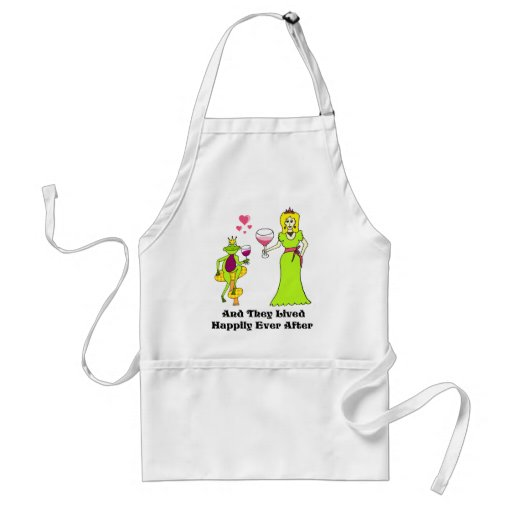 Wine Prince & Princess ...Happily Ever After Apron