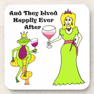 Wine Prince & Princess ...Happily Ever After Beverage Coaster