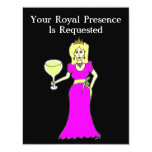 "Wine Princess Gathering 4.25"" X 5.5"" Invitation Card"