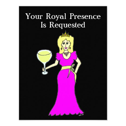 Wine Princess Gathering Personalized Announcement