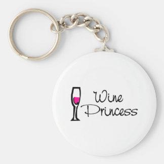 Wine Princess Keychain