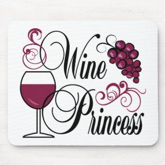 Wine Princess Mouse Pads