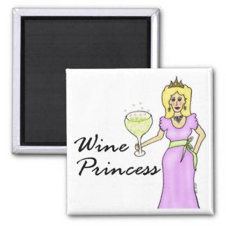 Wine Princess (no Saying) Magnet