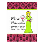 "Wine Princess ""Someday My Prince Will Come..."" Post Card"