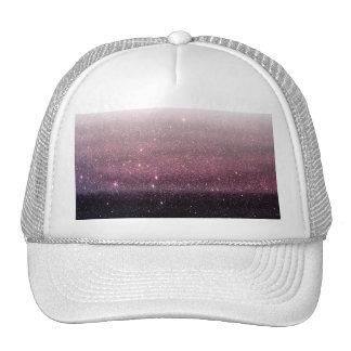 Wine Purple and Navy Blue Faux Glitter Gradient Trucker Hat