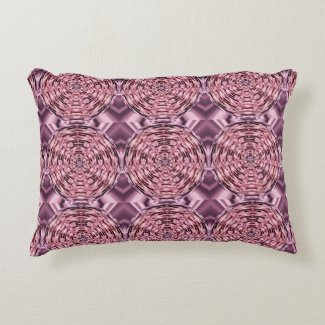 Wine Purple Pink Faux Satin Abstract Accent Pillow