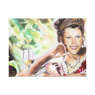 Wine queen portrait - German wine queen Nicole Canvas Print