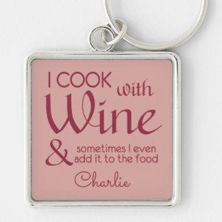 Wine Quote custom name key chain