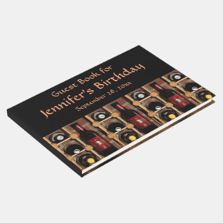 Wine Rack Abstract Birthday Party Guest Book