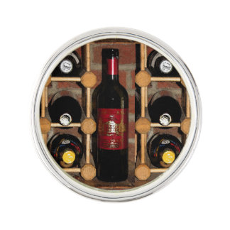 Wine Rack Abstract Lapel Pin