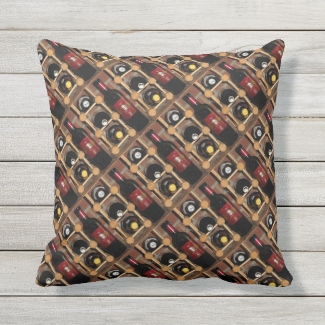 Wine Rack Abstract Outdoor Pillow