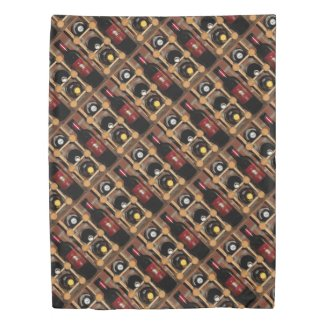 Wine Rack Abstract Pattern Duvet Cover