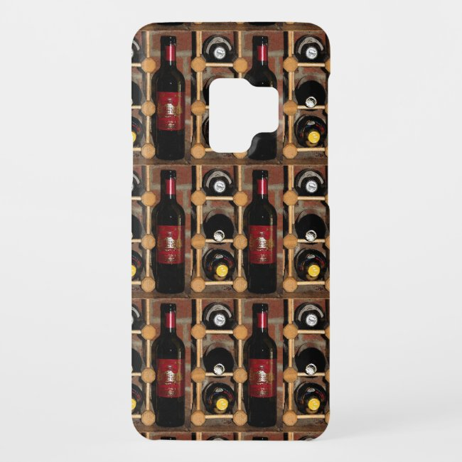 Wine Rack Abstract Pattern Galaxy S9 Case