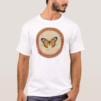 Wine Red Butterfly Round T-Shirt