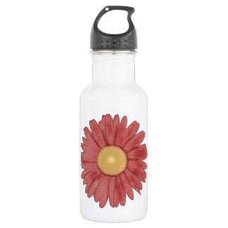Wine-red Daisy #2 Stainless Steel Water Bottle