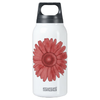 Wine-red Daisy 10 Oz Insulated SIGG Thermos Water Bottle