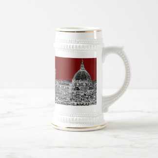 Wine red Florence dome 18 Oz Beer Stein