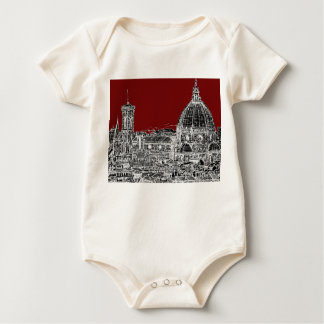Wine red Florence dome Baby Bodysuit
