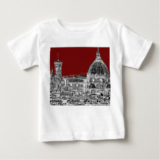Wine red Florence dome Baby T-Shirt