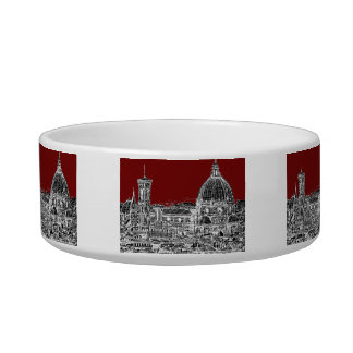 Wine red Florence dome Bowl