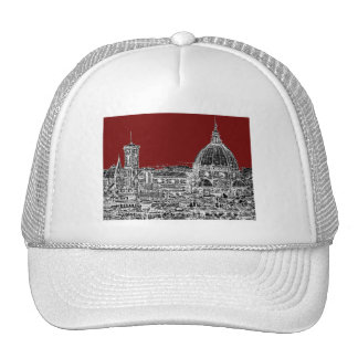 Wine red Florence dome Trucker Hat