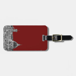 Wine red Florence dome Tag For Luggage