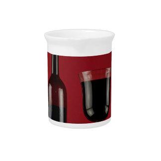 Wine red glass bottle beverage pitcher