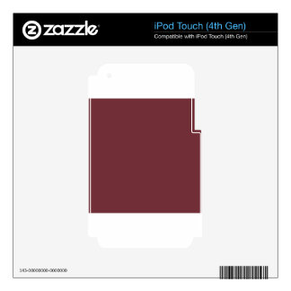 Wine Red Skins For iPod Touch 4G