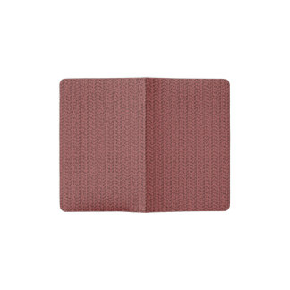 Wine Red Weave Look Pocket Moleskine Notebook Cover With Notebook