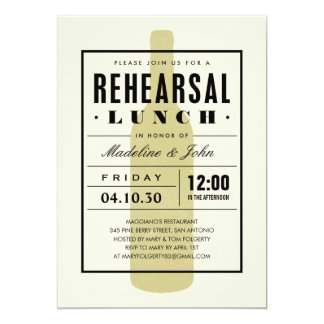 Wine Rehearsal Lunch Invites With a Modern Design