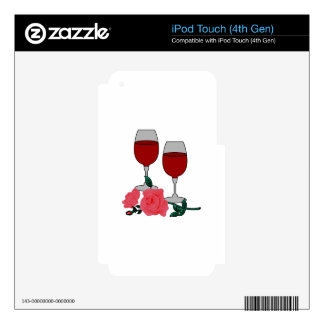 Wine & Roses Decals For iPod Touch 4G
