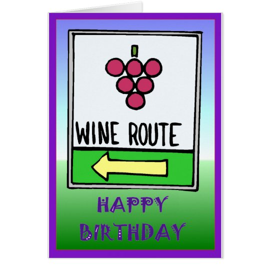 Wine route birthday card