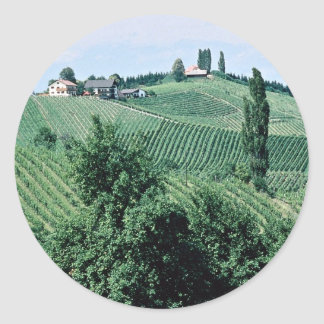 Wine route in Southern Syria, Austria at the Corni Round Stickers
