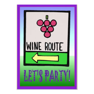 Wine route, Let's party - Invitation