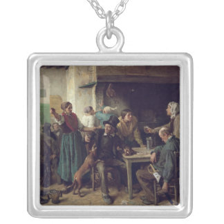 Wine Shop Monday, 1858 Silver Plated Necklace