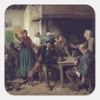 Wine Shop Monday, 1858 Square Sticker