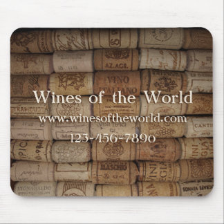 Wine Shop or Bar Cork Collection Mouse Pad