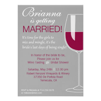 Wine Shower Personalized Announcement