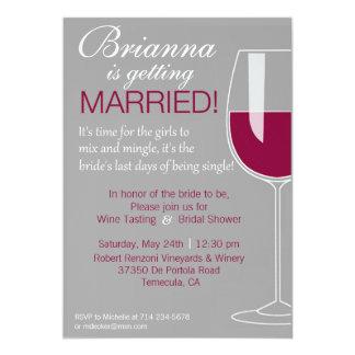 Wine Shower 5x7 Paper Invitation Card
