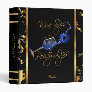 Wine Sips and Pouty Lips Business Design Binder